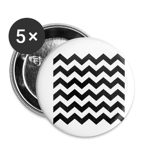 zigzag png - Lot de 5 petits badges (25 mm)
