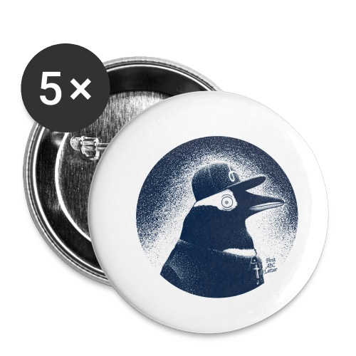 Pinguin dressed in black - Buttons small 1''/25 mm (5-pack)