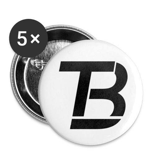 brtblack - Buttons small 1''/25 mm (5-pack)