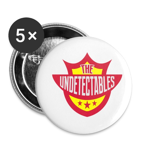 Undetectables voorkant - Buttons klein 25 mm (5-pack)
