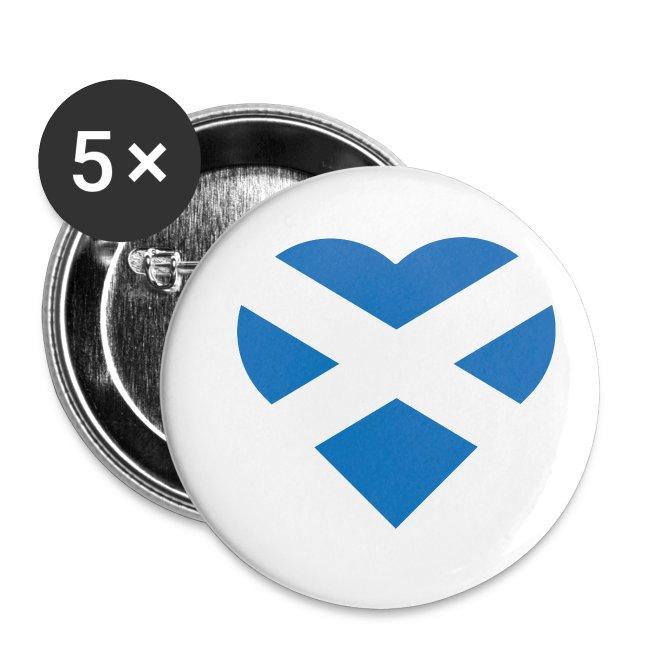 Flag of Scotland - The Saltire - heart shape