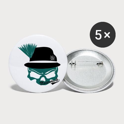 Steiermark - Buttons klein 25 mm (5er Pack)