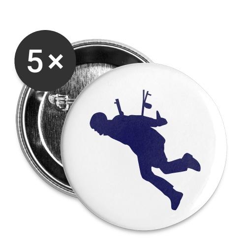 Paragleiter startet - Buttons klein 25 mm (5er Pack)