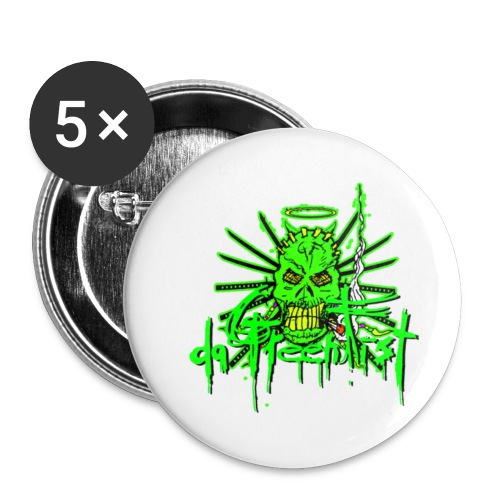GFSkullOnlyColorShirt - Buttons small 1''/25 mm (5-pack)