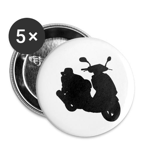 Daelim Otello Silhouette von vorne rechts - Buttons klein 25 mm (5er Pack)