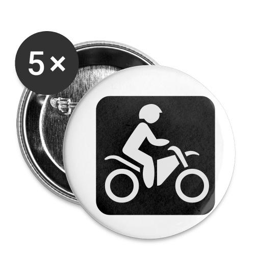 motorcycle - Rintamerkit pienet 25 mm (5kpl pakkauksessa)