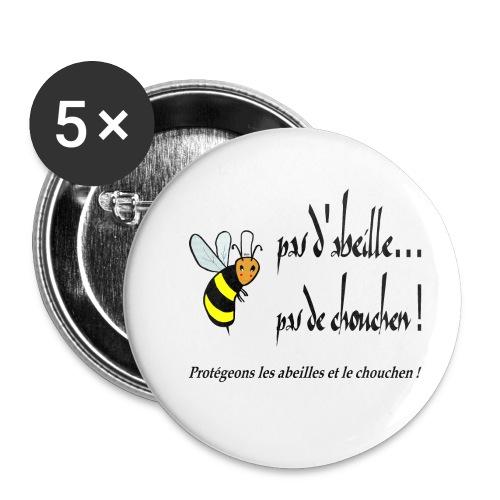 Pas d'abeille, pas de chouchen - Lot de 5 petits badges (25 mm)