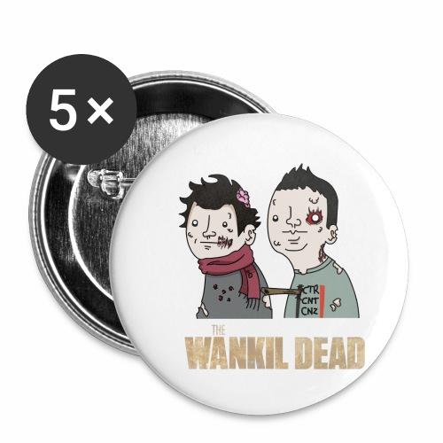 The Wankil Dead - Lot de 5 petits badges (25 mm)
