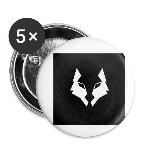 La Meute Big Logo - Lot de 5 petits badges (25 mm)