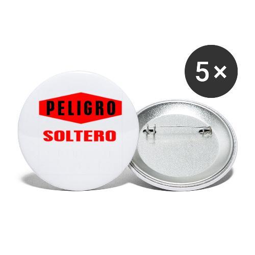 Peligro soltero - Paquete de 5 chapas pequeñas (25 mm)