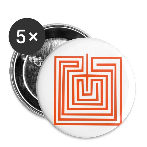 Mother Earth or Maze Symbol - Buttons small 1''/25 mm (5-pack)