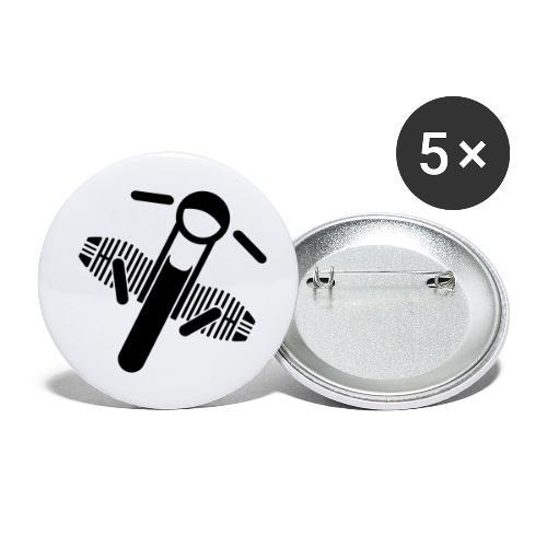 Motorrad Fahrer Shirt Boxerbike - Buttons klein 25 mm (5er Pack)