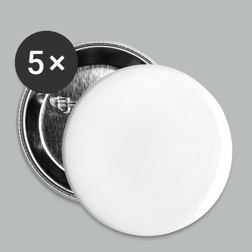 DFBM unbranded white - Buttons small 1''/25 mm (5-pack)