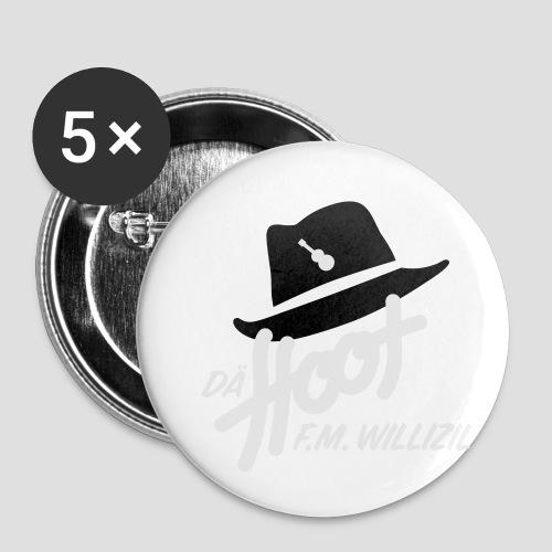daeHoot_Shirt_Logo1_2c - Buttons klein 25 mm (5er Pack)