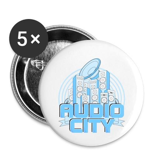 AudioCity - Buttons klein 25 mm (5er Pack)