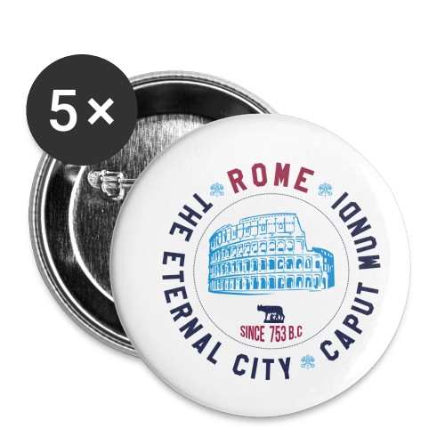 ROME - Buttons klein 25 mm (5er Pack)