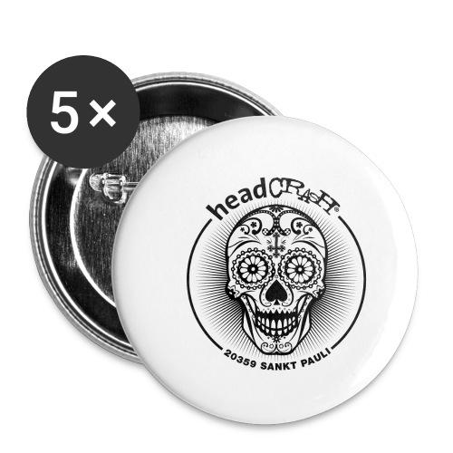 hC logoII star - Buttons klein 25 mm (5er Pack)