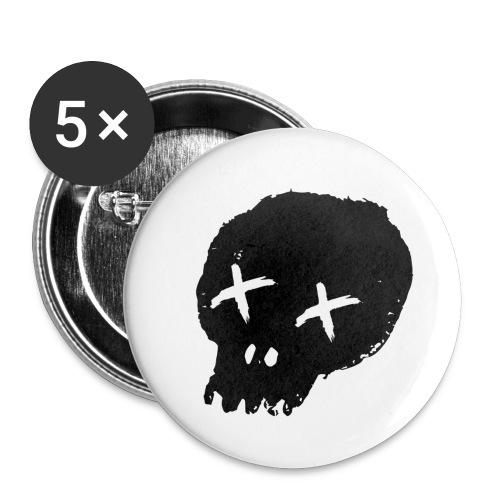 blackskulllogo png - Buttons small 1''/25 mm (5-pack)