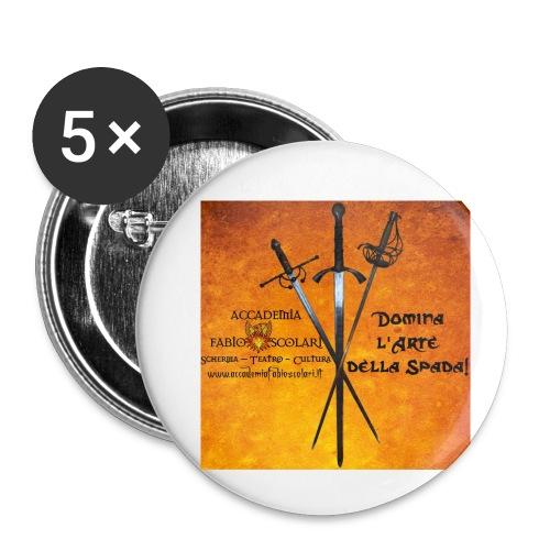 3spade-jpg - Confezione da 5 spille piccole (25 mm)
