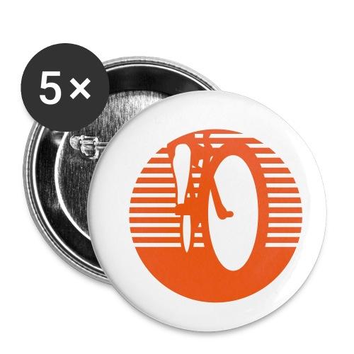 Radfahrer radfahren biken - Buttons klein 25 mm (5er Pack)