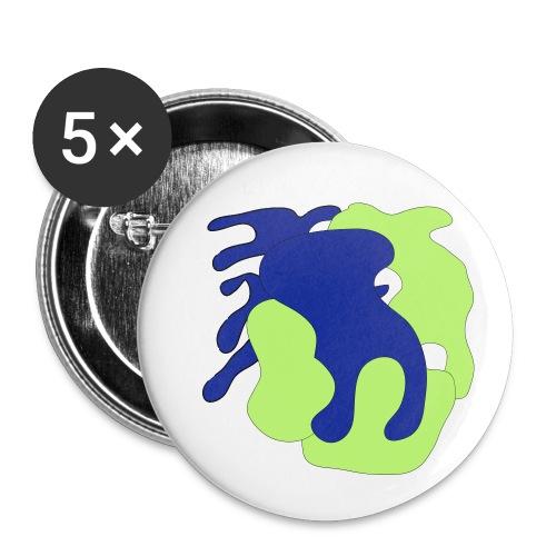 Macchie_di_colore-ai - Confezione da 5 spille piccole (25 mm)