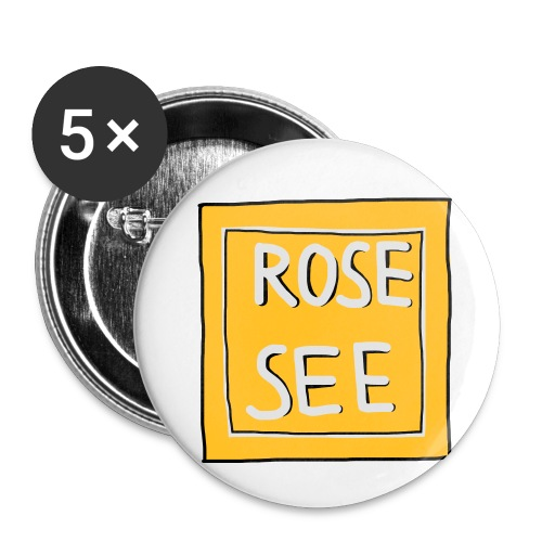 Logo voor druk op textiel - Buttons klein 25 mm (5-pack)