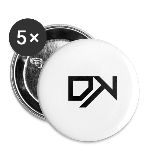 DewKee Logo T-Shirt Black - Buttons small 1''/25 mm (5-pack)