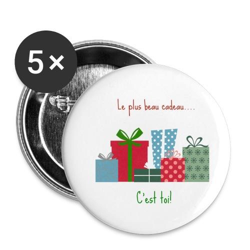 Le plus beau cadeau - Lot de 5 petits badges (25 mm)