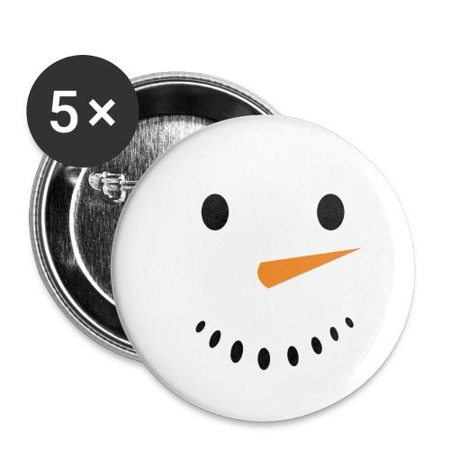 Bonhomme de neige Noël Hiver - Lot de 5 petits badges (25 mm)