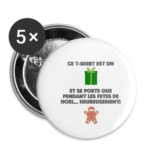 T-shirt cadeau de Noël - Lot de 5 petits badges (25 mm)