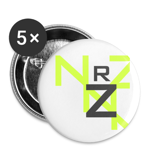 Nörthstat Group™ Clear Transparent Main Logo - Buttons small 1''/25 mm (5-pack)