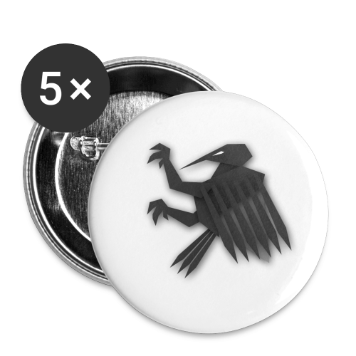 Nörthstat Group ™ Black Alaeagle - Buttons small 1''/25 mm (5-pack)