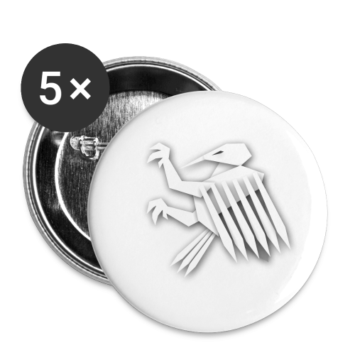 Nörthstat Group ™ White Alaeagle - Buttons small 1''/25 mm (5-pack)