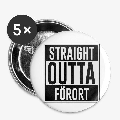 Straight Outta Förort - Små knappar 25 mm (5-pack)