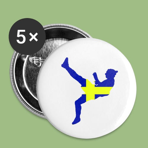 Ibra Sweden flag - Små knappar 25 mm (5-pack)