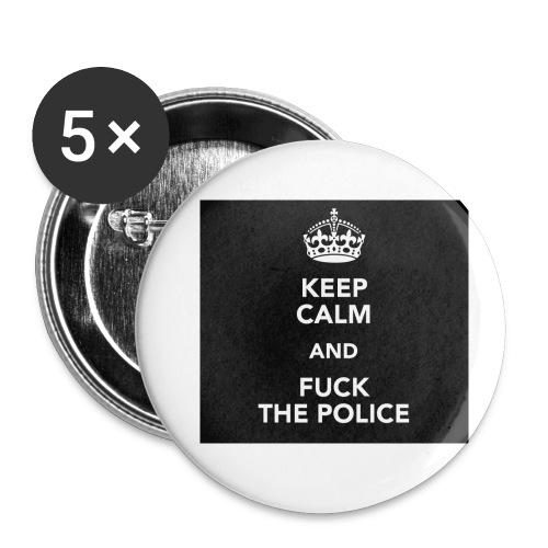 #KeepCalmAndFuckThePolice - Små knappar 25 mm (5-pack)