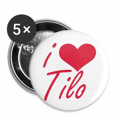 I love Tilo - Buttons klein 25 mm (5er Pack)