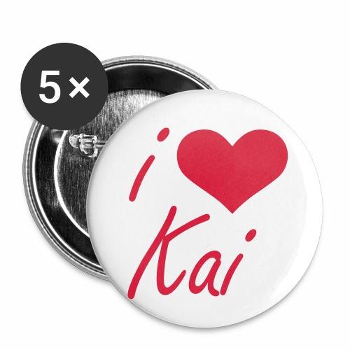 I love Kai - Buttons klein 25 mm (5er Pack)