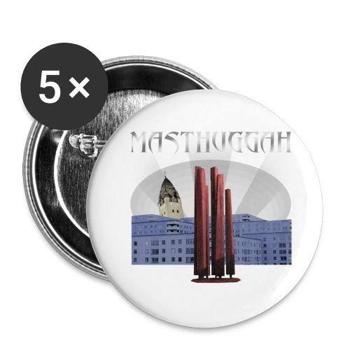 Masthuggah master, kyrka och terass - Små knappar 25 mm (5-pack)