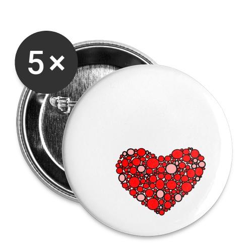 Hjertebarn - Buttons/Badges lille, 25 mm (5-pack)