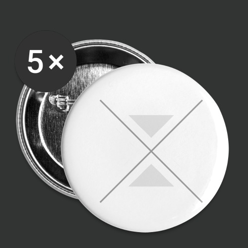 triangles-png - Buttons small 1''/25 mm (5-pack)
