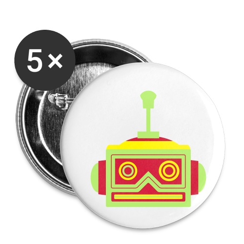 Robot head - Buttons small 1''/25 mm (5-pack)