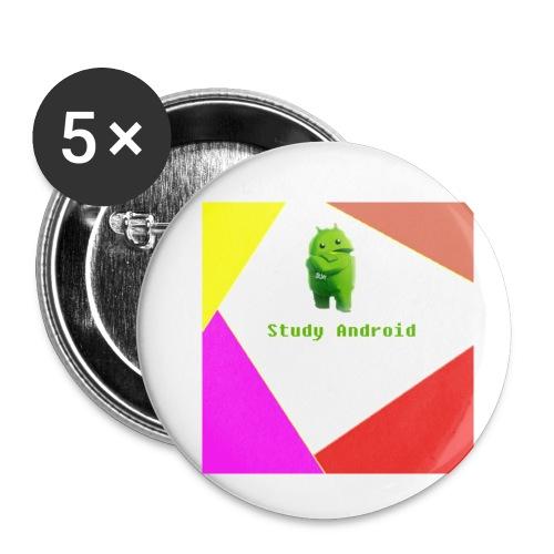 Study Android - Paquete de 5 chapas pequeñas (25 mm)