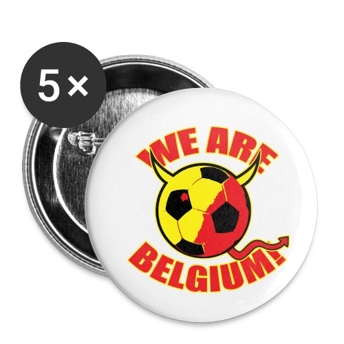 We Are Belgium - Buttons klein 25 mm (5-pack)