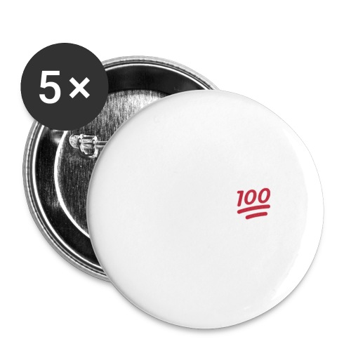 KEEP IT 100 WIT png - Buttons klein 25 mm (5-pack)