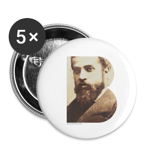 BT_GAUDI_ILLUSTRATOR - Buttons small 1''/25 mm (5-pack)