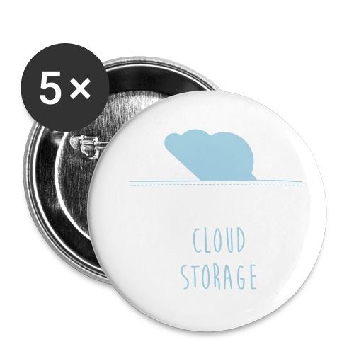 Cloud Storage - Buttons klein 25 mm (5er Pack)