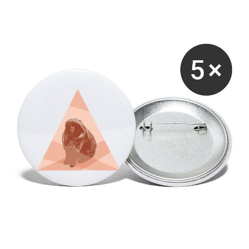 Kaninchen Hasen Häschen Bunny Langohr Dreieck Hip - Buttons klein 25 mm (5er Pack)
