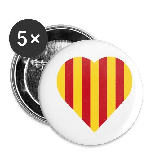 L'Estelada Vermella Cor Catalunya - Buttons small 1''/25 mm (5-pack)