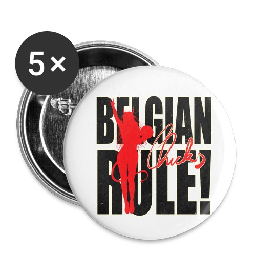 Belgian Chicks Rule! - Buttons klein 25 mm (5-pack)
